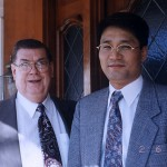 Korean businessman Kim Jeongduk and  a. J. Wichita, Nitro-9 President.