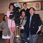 The production crew during  commercial shoot.