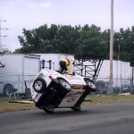 Chitwood stunt driver shows off during commercial shoot.