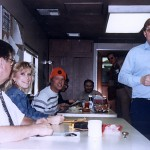 A. J. Wichita, President, Donna Wichita, Marketing Manager.In the Spenco Railway dining car