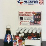 display of 50 ml and 700 ml bottles.